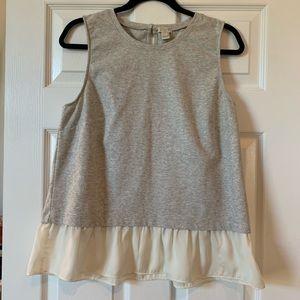 J. Crew EUC sleeveless tee blouse peplum style